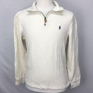 Polo Ralph Lauren White 1/4 Zip Pullover Sweater